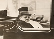 Conservative Art - Winston Churchill, Leaving Buckingham by Everett