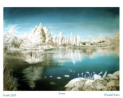 Snow Scene Pastels Framed Prints - Winter 1 Framed Print by Elisabeth Dubois