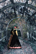 Period Clothing Prints - Winter Arbor Print by Jill Battaglia