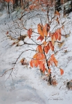 Rust Paintings - Winter Ash by P Anthony Visco
