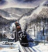 Ma.. Drawings - Winter at Deer Creek by David Mittner