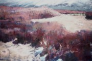 Snow Scene Pastels Posters - Winter at Fish Slough IV Poster by Anita Stoll