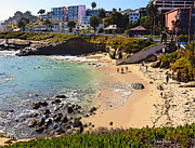 Coastline Digital Art - Winter at The La Jolla Cove by Russ Harris