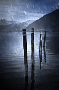 Rain Art - Winter At The Lake by Joana Kruse