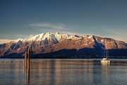 Lake View Photos - winter at the Lake Maggiore by Joana Kruse