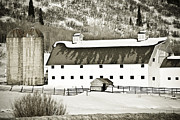 Farming Barns Framed Prints - Winter Barn 2 Framed Print by Marilyn Hunt