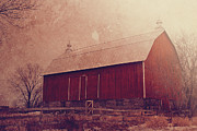 Joel Witmeyer Posters - Winter Barn Poster by Joel Witmeyer