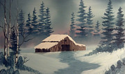 Barn Originals - Winter Barn by Keith Sachs