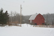 Winter Barn Scene  Print by Eric Irion