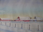 Everett Kimball - Winter Barns