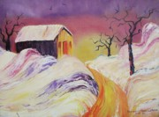 Leclair Prints - Winter Beauty Print by Suzanne  Marie Leclair