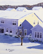 Snowscape Paintings - Winter Blanket by Alan Mager