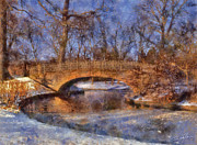 Stream Art - Winter Bridge by Dale Jackson