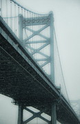 Ben Franklin Bridge Prints - Winter Bridge Print by John Greim