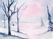 Watercolors - Winter Cabin by Rich Stedman