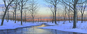 Landscape Posters Framed Prints - Winter Calm Framed Print by Mike Brown