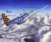Fighters Paintings - Winter Chase by David Gorski