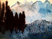 Modern Acrylic Paintings - Winter Chills by Mike Grubb
