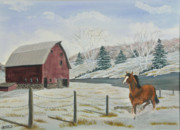 Bay Horse Originals - Winter Dance by Charlotte Blanchard