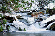 Snowy Stream Prints - WInter Print by Darren Fisher