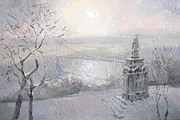 Kiev Art Prints - Winter day. Kiev Print by Anna Sokol