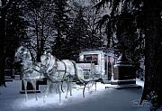 Paranormal  Digital Art Prints - Winter Departure   Print by Tom Straub