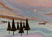 Fir Trees Painting Prints - Winter Dream Print by Gordon Beck