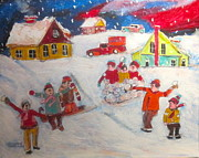 Michael Litvack Art - Winter Friends by Michael Litvack