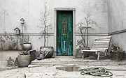 Puddle Metal Prints - Winter Garden Metal Print by Cynthia Decker