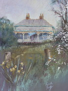 Historic Pastels Prints - Winter Garden Print by Pamela Pretty