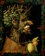 Zodiac Painting Prints - Winter Print by Giuseppe Arcimboldo