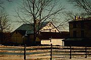 Split Rail Fence Framed Prints - Winter Glow Framed Print by Gordon Beck