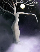 Night Paintings - Winter Goddess by Alys Caviness-Gober