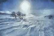 Snowscape Digital Art - Winter by Gun Legler