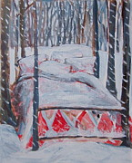 Tilly Strauss Paintings - Winter Hybernation by Tilly Strauss