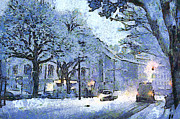 Dap Prints - Winter in Aachen Print by Heinrich Damm