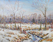Hope Paintings - Winter in All Its Glory Bucks County by Christopher Willett