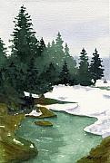 Evergreens Prints - Winter in Pertouli Print by Marsha Elliott