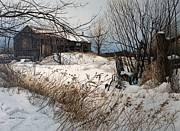 Winter In Prince Edward County Print by Robert Hinves