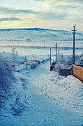 Winter Landscape Photos - Winter in Romanian countryside by Gabriela Insuratelu