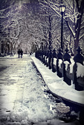 Brunch Prints - Winter in the Central Park New York 2 Print by Design Remix