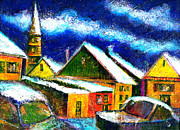 Ion Vincent Danu Metal Prints - Winter in the Old City Metal Print by Ion vincent DAnu
