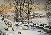 Lane Digital Art - Winter In The Ribble Valley by Andrew Read