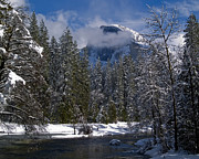 Merced River Prints - Winter in the Valley Print by Bill Gallagher