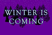 Vintage Fan Prints - Winter is Coming Print by Jera Sky