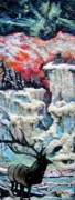 Winter-landscape Tapestries - Textiles Prints - Winter Print by Kimberly Simon
