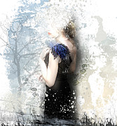 Snow Art Mixed Media - Winter Lady by Viaina