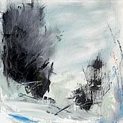 Large Abstract Acrylic Paintings - Winter Landscape I by Jacquie Gouveia