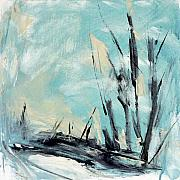 Large Abstract Acrylic Paintings - Winter Landscape III by Jacquie Gouveia