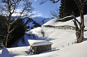 Snow-covered Landscape Photo Prints - Winter landscape Print by Matthias Hauser
